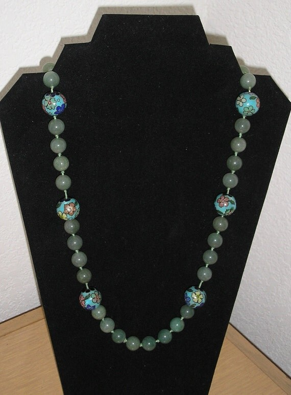 Awesome Agate/Cloissone necklace