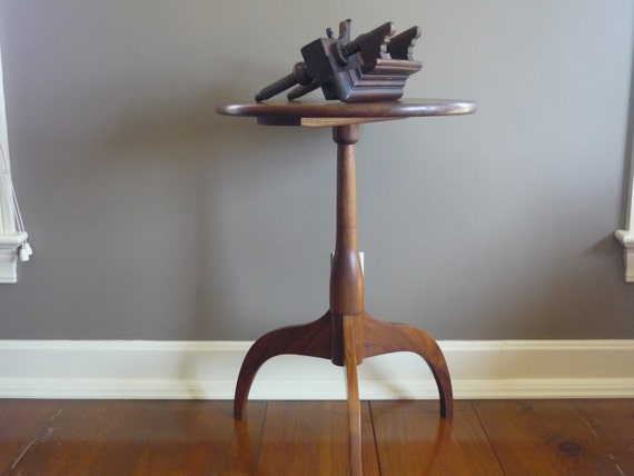 Walnut Shaker Candle Stand Table