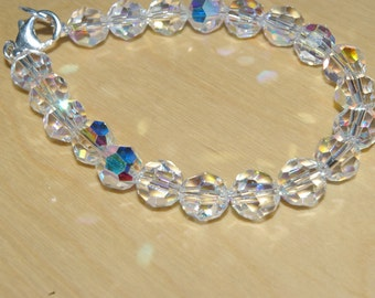 Swarovski round bead bracelet