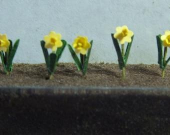 "1/4"" scale Daffodils Flowers 10"