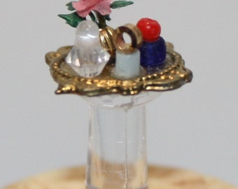 """1/4"""" scale Kit: Gold Perfume Tray"""