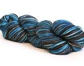 Hand Dyed Superwash Sock Yarn -- Cowboy