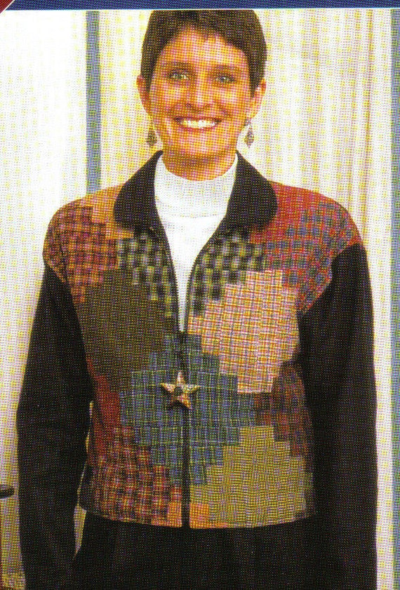 Quilting Pattern Zippered Jacket Sizes 8-22  The Quilted Closet Steppin' Up Zippered Jacket
