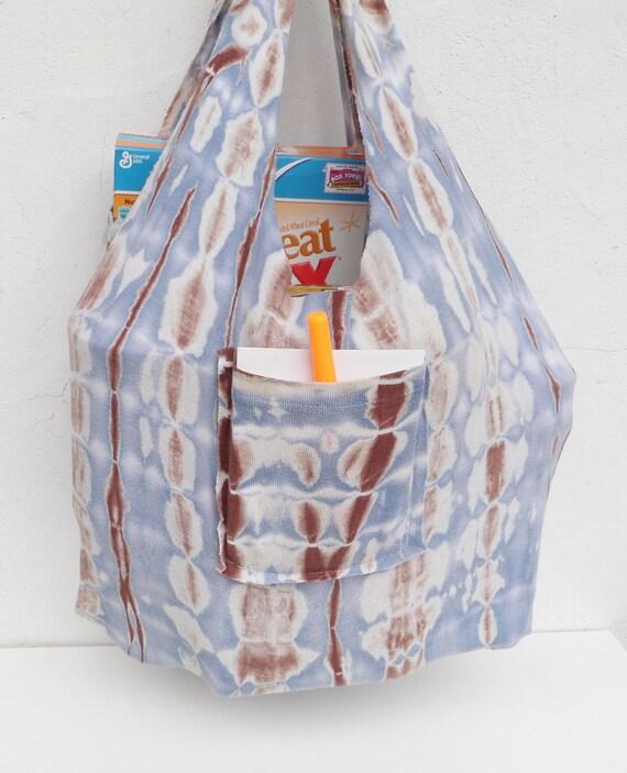 Reusable Shopping Bag Tote Eco Friendly Tie Dye T-Shirt Bag FREE Shipping