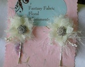 White Fantasy Bobby Pins - floradornments