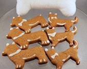 Corgi Peanut Butter dog treat cookies with dog safe icing - One dozen