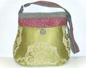Shoulder Bag / Cross Body, Upholstery Fabrics, Citron Green, Pink