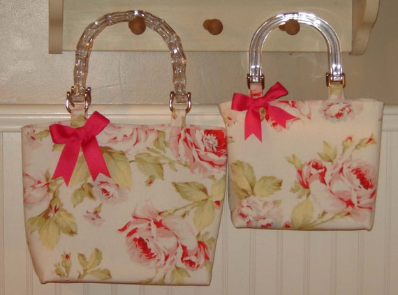 Spring and Summer Days for Mommy and Me Matching Shabby Chic Pocketbooks