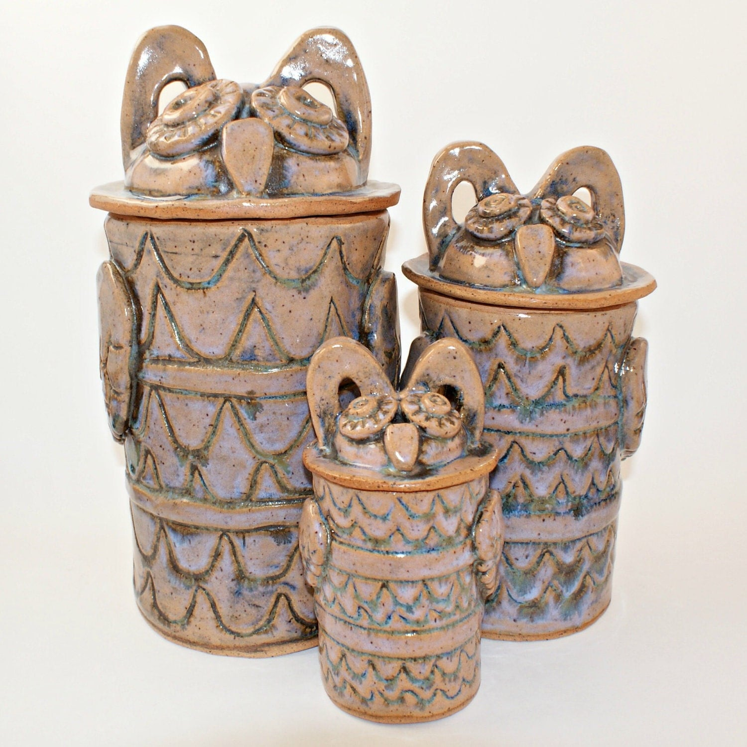 owl kitchen canisters hinged jar woodland owl in kitchen