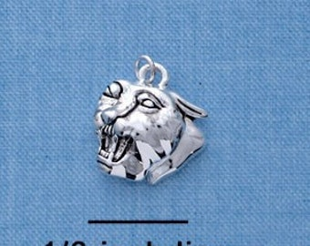Small PANTHER HEAD Silver Plated Charm  chs1203