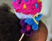 CROCHET PATTERN, Birthday Cupcake Headband