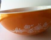 Large Orange Pyrex Bowl
