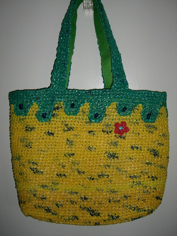 ON SALE /// Recycled Yellow Tote bag