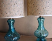 Vintage Glass Lamp Set