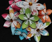 Origami flowers-- crazy colors