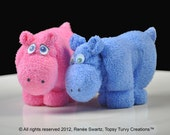 Washcloth Hippo, WashAgami ™, for Diaper Cake Instructional Video