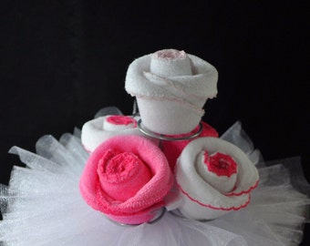 Bib Cupcake for a Diaper Cake How To Video