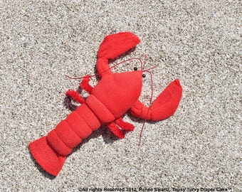 Baby Washcloth Lobster, Crawfish for Diaper Cake Instructional Video (Sale)