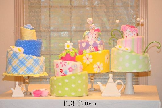 Topsy Turvy Diaper Cake Pattern, Instructional Video, Diaper Cake