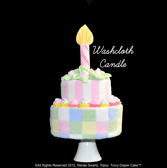 Baby Washcloth Candle for Diaper Cake Instructional Video
