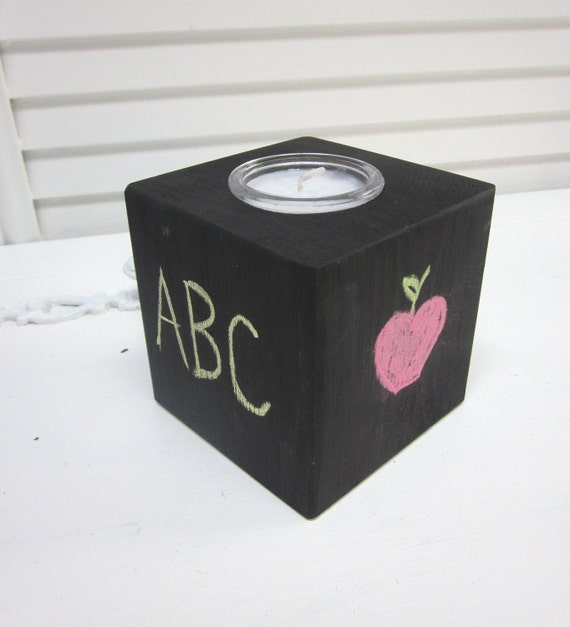 Chalkboard Candle - Teacher Gift, Wedding table, Grandmother gift, Hostess gift