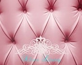 "54""x5'  Photography Backdrop Pink Tufted Background Photo Prop"