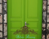 "66""x8' Photography Backdrop Green Lucky Doors"