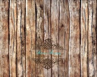 """54""""x7' Photography Backdrop Faux Barnwood Floor"""