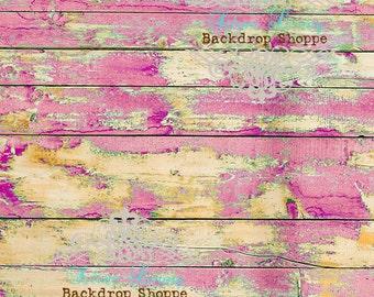 4' x 5' Photography Backdrop Faux Floor Drop Matte Vinyl Chippy Razzleberry Prop