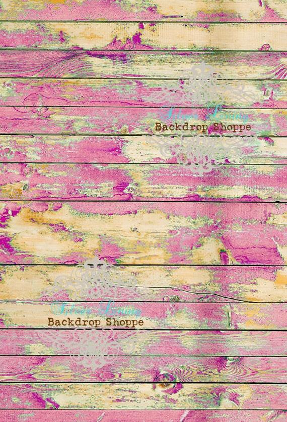 """54""""x5' Photography Backdrop Faux Floor Drop Matte Vinyl Chippy Razzleberry Prop"""