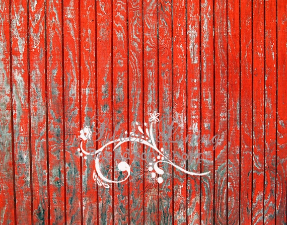 54x6ft Photography Backdrop Faux Floor or Wall Red Barn Wood