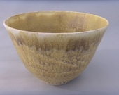 Deep Pottery Serving Bowl - Stoneware - Mottled Brown Deep Bowl