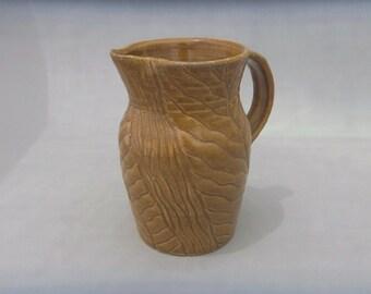 Ceramic Pitcher - Carved Pottery Pitcher
