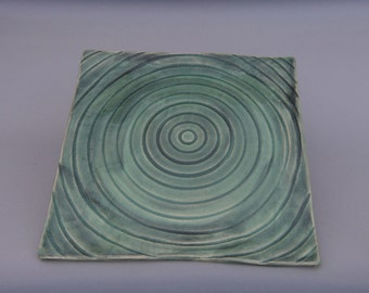 Square Plate - Pottery - Swirling