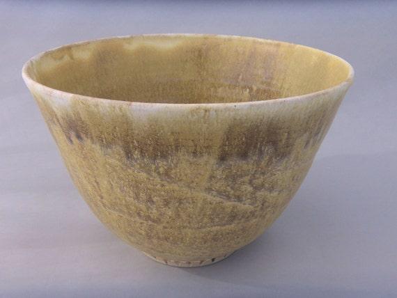 Pottery Serving Bowl - Stoneware - Mottled Brown Deep Bowl