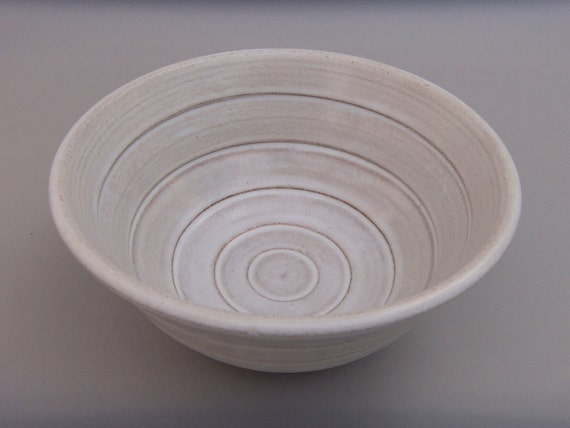 Small White Terracotta Bowl - Pure and Simple