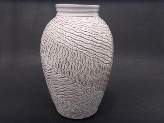 Elegant Earthenware - Tall White Terracotta Vase