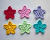 Star Applique - PDF Crochet Pattern - Instant Download - Embellishment Accessories Ornament Scrapbooking Motif