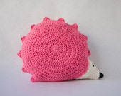 Hedgehog Pillow - PDF Crochet Pattern - Instant Download - Animal Cushion Crochet Nursery Baby Shower decor