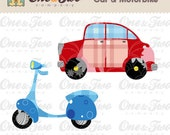 Instant Download - Fabric APPLIQUE TEMPLATE Only PDF - Car & Motorbike - Permission to Sell Finished Items