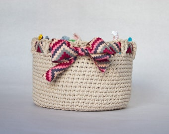 Instant Download - PDF CROCHET PATTERN - Adorable Big Basket  - Permission to Sell Finished Items