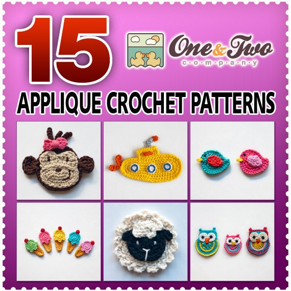 SPECIAL OFFER - Choose 15 PDF Applique Crochet Patterns for 34,50  Dollars - Permission to Sell Finished Items