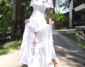 Wedding Flower LOVE Cocktail Party Maxi Dress Free Size (M004)