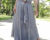 Light Gray Cotton Mix to Coconut Shell (Long Skirt or Dress) B