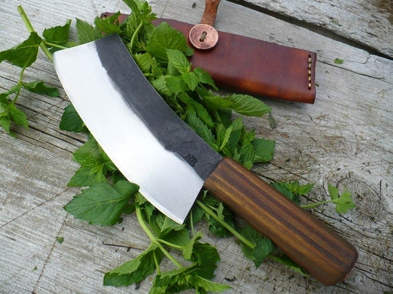 Hand forged herb chopper/mini cleaver