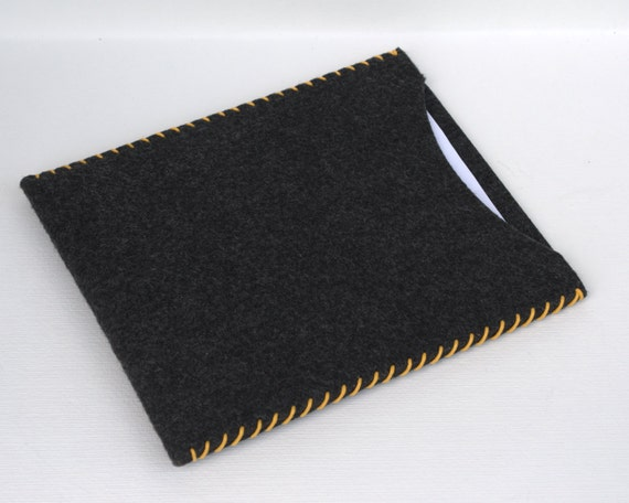 iPad  case  Sleeve gray anthracite felt HAND SEWING