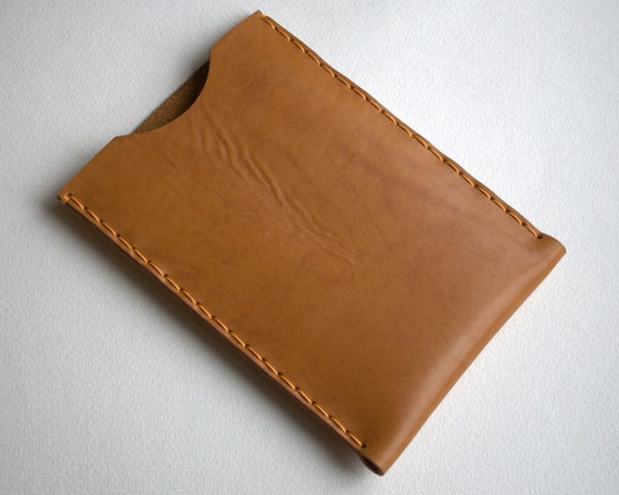 Kindle FIRE case sleeve cover natural waxed leather