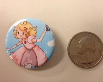 Chibi Princess Peach (Super Mario Bros.) Button