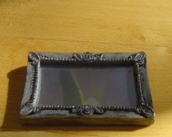 Antique Silver Mirror - 1:12 scale