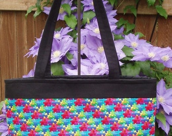 Autism Awareness Tote - Handmade Tote, Bag or Purse